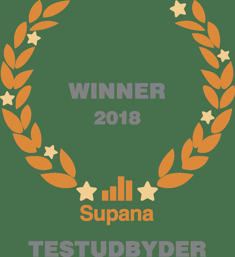 Supana Winner 2018 - Årets testudbyder DISCnordic